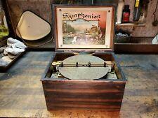 "Antique Symphonion 7 1/2"" Disc Music Box Restoration Project Plays Nice Fixer Up"