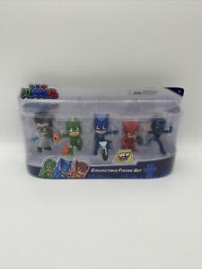 PJ Masks Collectible Five (5) Figure Set NEW Power Up Poses - Kid Gift Free Ship