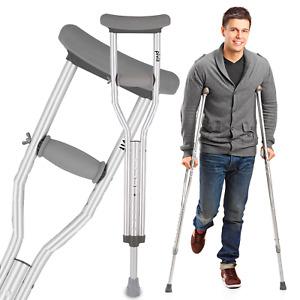 Pivit Lightweight Aluminum Underarm Crutches | High-Quality Anodized Aluminum