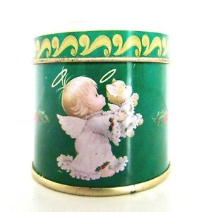 Small Scented Candle in Angel with Holly Tin UNUSED