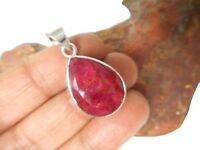 Teardrop  RUBY  Sterling  Silver  925  Gemstone  PENDANT  -  Gift Boxed!