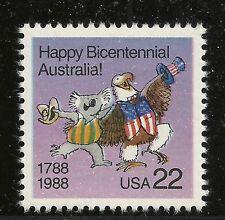 Scott# 2370, Singolo 1988 Australia 22c FVF Nuovo senza Linguella