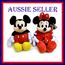 DISNEY MICKEY OR MINNIE MOUSE 30CM LICENSED PLUSH TOY Melbourne Seller
