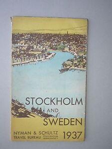Stockholm Suède Sweden 1937 Guide touristique