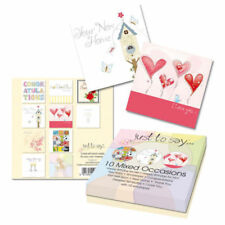 Mixed Box 10 Designs All Special Occasions Greeting Cards Blank For Own Message