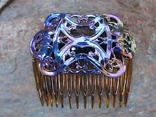 "Retro Deco Vitrail Hair Side Combs 2 3/4"" Comb Vintage NEW  Made in USA #004"