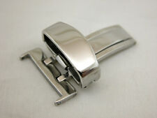 18MM Deployment Buckle SINGLE Clasp Polished Stainless Steel