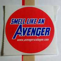SMELL LIKE AN AVENGER CHICAGO COMIC CON MOVIE STAN LEE COLOGNE SCENTED STICKER