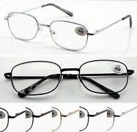 L41 Metal Reading Glasses/Spring Hinges & Unisex/Super Classic Style