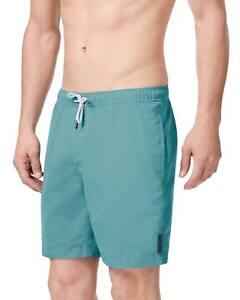 NWT Michael Kors Men's Lagoon Blue Drawstring Swim Trunks Shorts Retail