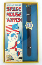 Luna Time Space Mouse Astronaut Character Watch w/ Original Box by Webster