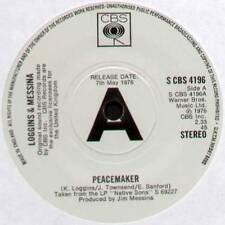 "KENNY LOGGINS & JIM MESSINA ~ PEACEMAKER ~ 1976 UK ""PROMO"" 7"" SINGLE ~ CBS 4196"
