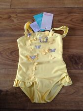 Monsoon Yellow Butterfly Appliqué Swimsuit 6-12 Months