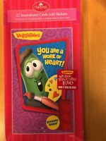 Veggie Tales Inspirational Valentines Day Cards 32 Cards 36 Stickers 2 Teacher