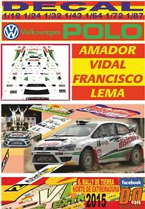 DECAL VOLKSWAGEN POLO N1 A.VIDAL R.NORTE EXTREMADURA 2015 WINNER (06)
