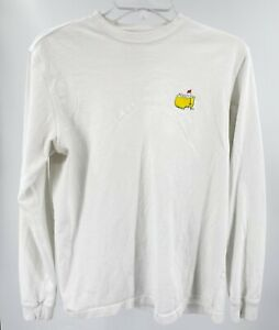 Masters Golf Tournament Tee Shirt Men's Size Small White Long Sleeve Pre-Owned