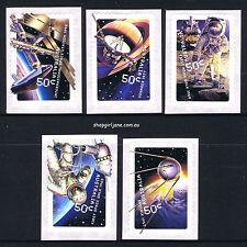2007 - Australia - Blast Off! 50 Years in Space - P&S set of 5 -MNH peel & stick