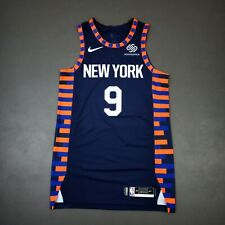 """100% Authentic RJ Barrett Nike NY Knicks City Game Issued Jersey Size 46+4"""""""