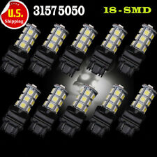 10Pcs 3157 White 18SMD 5050 Reverse Back Up/Tail/Brake/Stop/Turn LED Light Bulbs