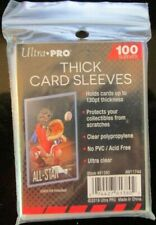 100 ULTRA PRO THICK 130 PT CARD SLEEVES 1 PACK JERSEY PATCH