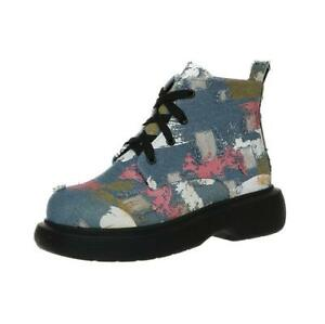 Women's British style Martin boots thick-soled lace-up canvas single boots