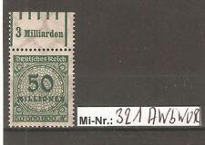 Deutsches Reich Mi-Nr.: 321 A W b WOR 1-5-1 sauber postfrisch geprüft Infla