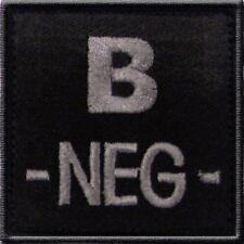 ECUSSON B- NOIR GROUPE SANGUIN B NEG NEGATIF INSIGNE