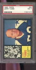 1962 Topps #45 Jerry Tubbs Dallas Cowboys NM PSA 7 Graded Football Card NFL