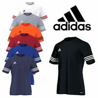 Adidas Entrada 14 T-Shirt da Uomo Climalite Maniche Corte Calcio Palestra Sport