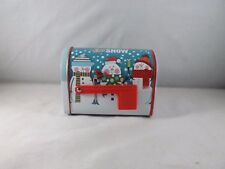 Greenbrier Mini Tin Mailbox with Hinged Door Moveable Flag - New - Let It Snow