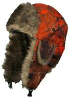 Best Winter Hats Orange Real Tree Camouflage Hunter/Trapper Winter Hat