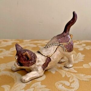 Cat metal trinket box in perfect condition!