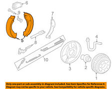 GM OEM Brake-Rear-Brake Shoes 88964441