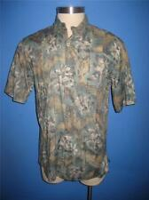 Tori Richard Soft Green Taupe Floral Cotton Hawaiian Camp Shirt M Mint