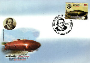 N.Macedonia/FDC/Science/400 years of the invention of submarine Cornelis Drebbel