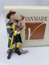 "Hero Firefighter & Child 3"" Vanmark Beyond The Call Red Hats of Courage BT90023"