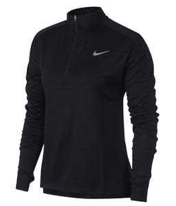 NIKE Womens Black Pacer 1/2 Zip Long Sleeve Running Jersey Top Medium BNWT