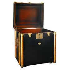 Authentic Models Stateroom Trunk End Table, Black - MF079B