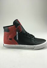Supra Vaider Shoes Trainers Black/Red Brand new in box in Size UK 4,5,7,8,9
