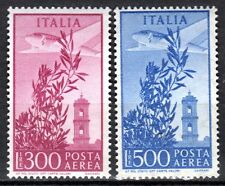Italy - 1956 Airmail stamps - Mi. 963-64 MNH (gum toned as usual)