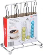 Chrome Flat 30 Coffee Pod Capsules Dispenser Holder Storage Stand