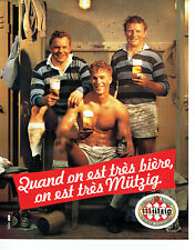 Publicité Advertising 078  1983    bière Mutzig rugby