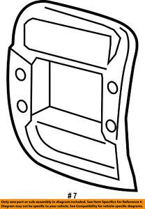 FORD OEM 97-06 Ranger Instrument Panel Dash-Center Bezel 5L5Z1004302JAA