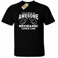 Awesome MECHANIC T Shirt mens gift funny mechanics present tee top