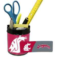 WASHINGTON STATE COUGARS NCAA Office Desk Caddy PEN/PENCIL/BUSINESS CARD HOLDER