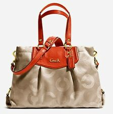 Auth Coach Ashley Dotted Op Art Carry All Satchel 20049 EUC