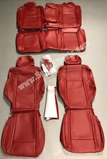 2015-2019 Dodge Challenger Custom Katzkin Leather Seat Covers Cardinal Red