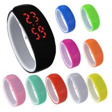 Bambini plastica LED Orologio Sport Digitale Impermeabile polso novità gf