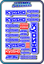 KYOSHO MODEL RC CAR DRONE BOAT BUGGY MINI Z STICKERS DECALS ROBOT R/C BLUE WHITE