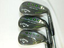 New Callaway MD3 Black wedge set 52* S - 56* C - 60* W - wedges AW SW LW
